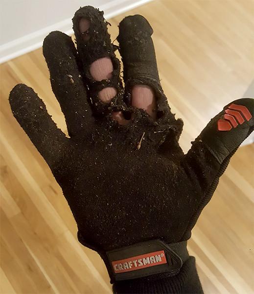 Craftsman Work Gloves Worn Out