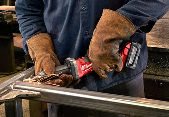 Milwaukee M18 Fuel Die Grinder 2784-22 Cleaning Welded Joint