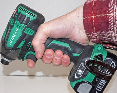 My grip on the Hitachi Triple Hammer impact driver