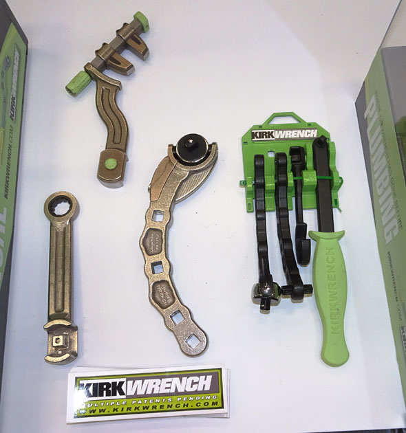 The Kirk Wrench_kit, static arm, adjustable tight quarters wrench