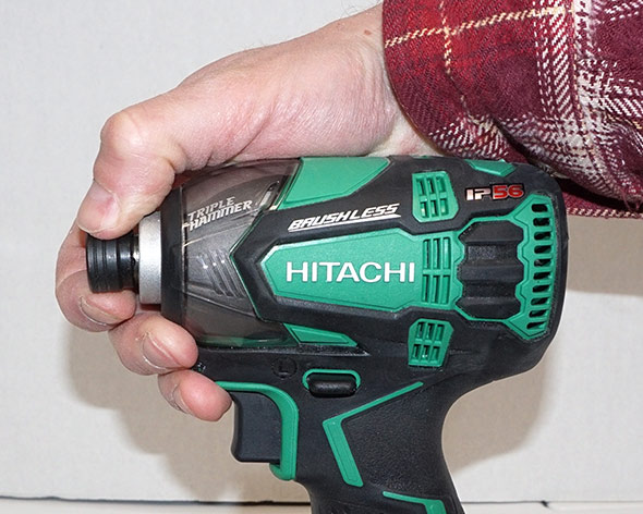 The chuck on the Hitachi Triple Hammer impact driver
