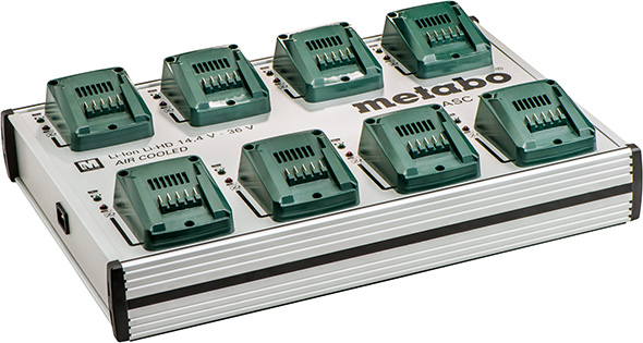 Metabo 18V and 36V 6-Port Simultaneous Charger