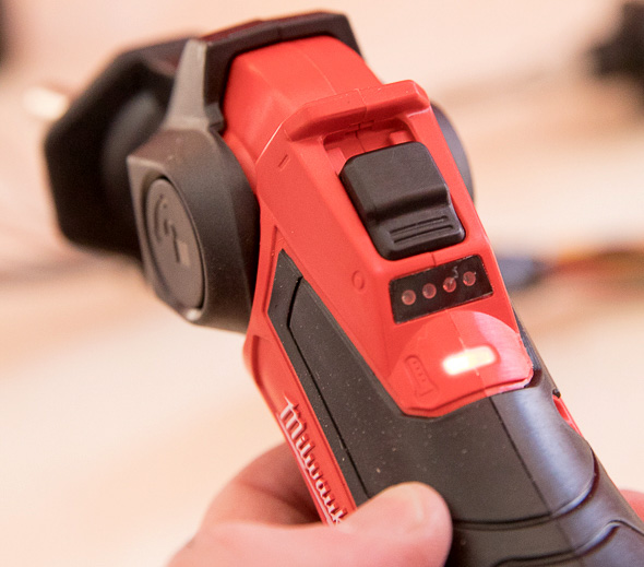 Milwaukee M12 Cordless Soldering Iron Control Switch and LED Indicator