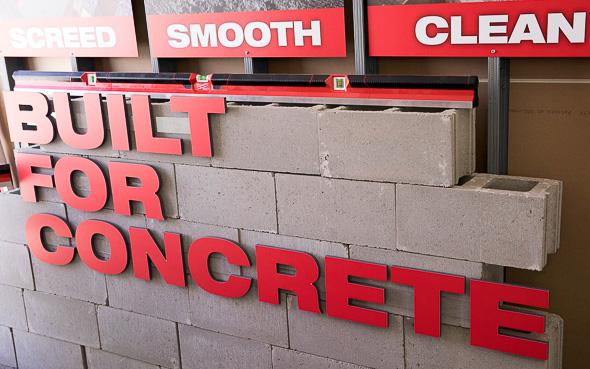 Milwaukee Masonry Levels Built for Concrete Signage