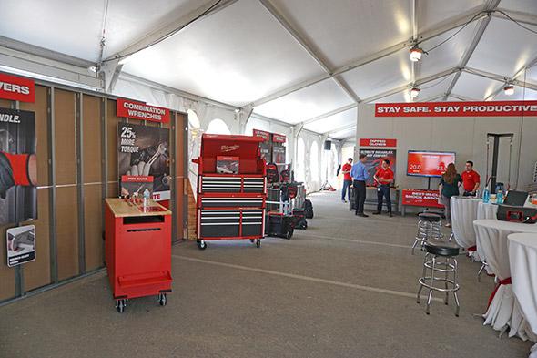 Milwaukee NPS17 inside the hand tool tent
