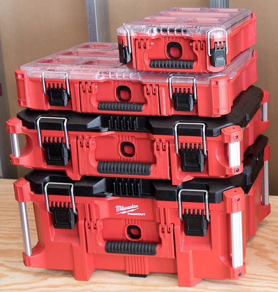 Milwaukee Packout Short Tool Box and Organizer Stack