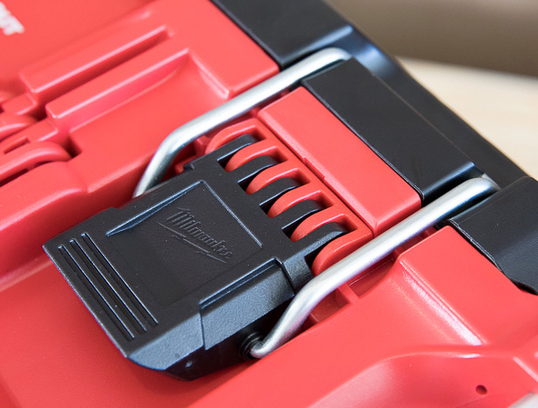 Milwaukee Packout Tool Storage Latch in Closed Position