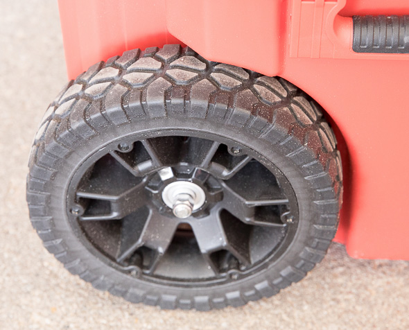 Milwaukee Packout Tool Storage Roller Tool Cart Wheel Tire Side