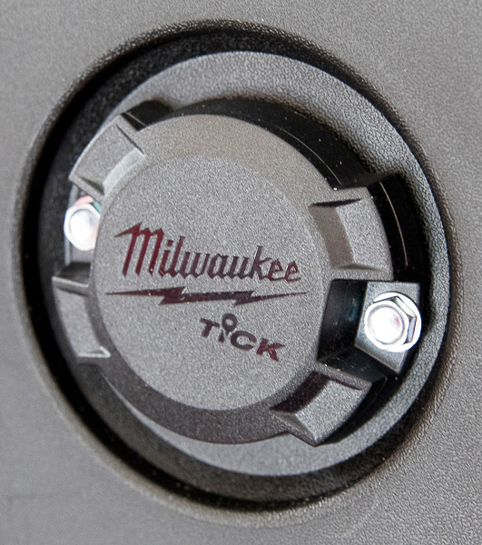 Milwaukee Packout Tool Storage with Tick Mounted to Inner Lid