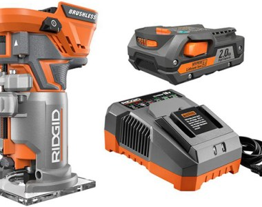 Ridgid cordless brushless router kit with battery and charger