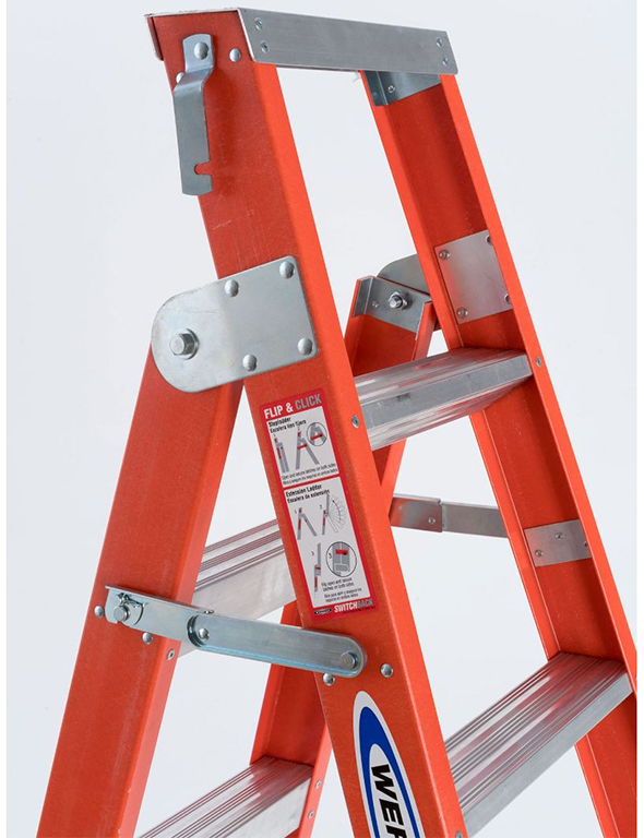 Werner Dual Purpose 2-in-1 Ladder Flip and Click Mechanism