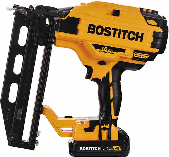 Bostitch 20V Cordless 16 Gauge Straight Finish Nailer
