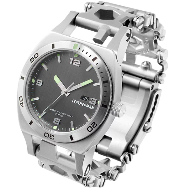 Leatherman Tread Tempo Multi-Tool Watch in Silver