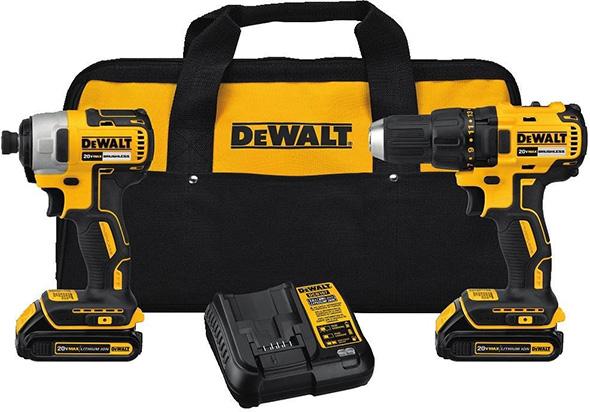 Dewalt DCK277C2 20V Max Brushless Drill and Impact Driver Kit