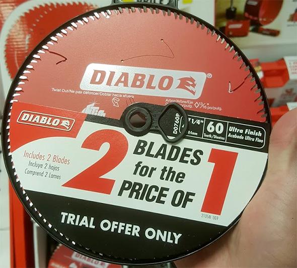 Diablo Ultra Finish Circular Saw Blade