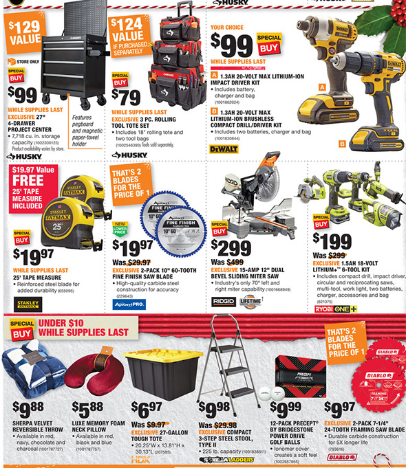 Home Depot Black Friday 2017 Tool Deals Ad Page 16