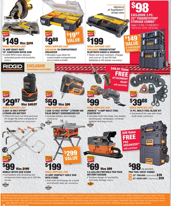 Home Depot Black Friday 2017 Tool Deals Ad Page 8