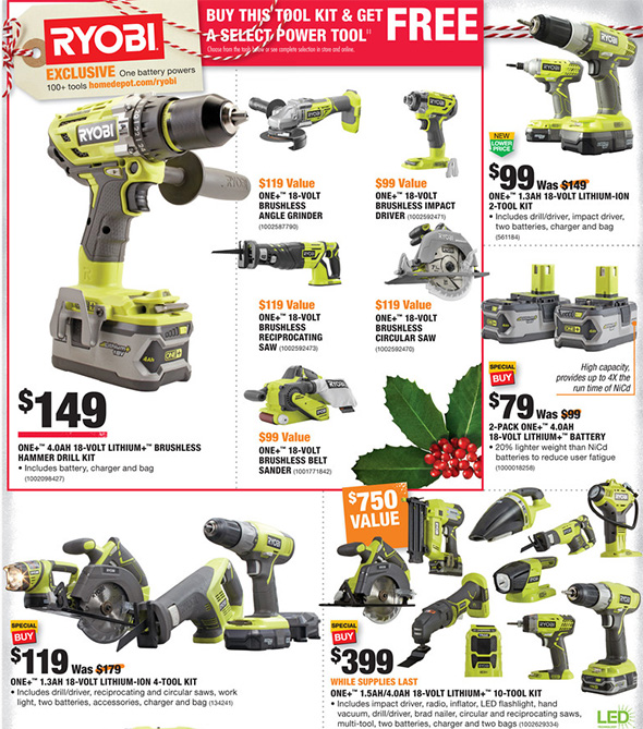 Home Depot Black Friday 2017 Tool Deals Ad Page 9