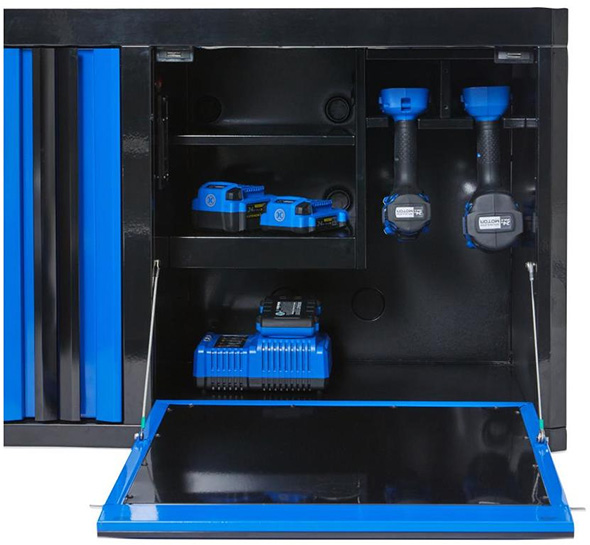 Kobalt 3000 series 45-inch Black and Blue Tool Chest Power Tool Storage