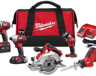 Milwaukee 2695-25CX M18 5-Tool Cordless Combo Kit