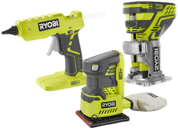 Ryobi Special Buy Glue Gun Router and Sander Bare Tools