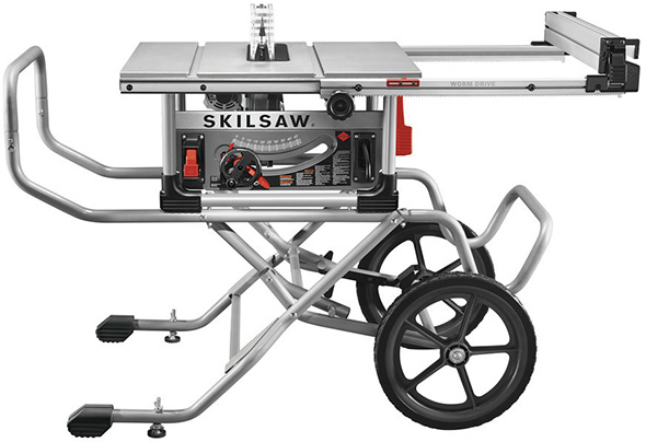 new skilsaw heavy duty worm drive saw with rolling stand