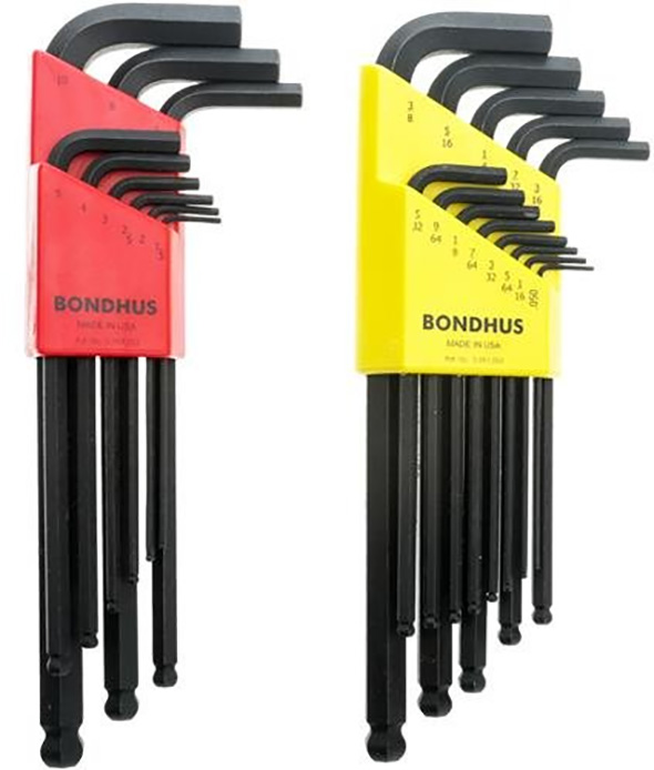 Bondhus Ball End Hex Key Set in Inch and Metric