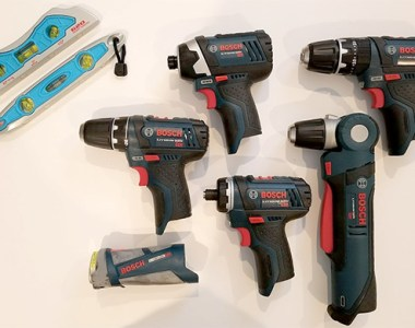Bosch 12V Max Drills and Drivers and Channellock Levels Giveaway Prize Package