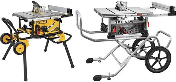 Dewalt vs Skilsaw Rolling Stand Portable Table Saw