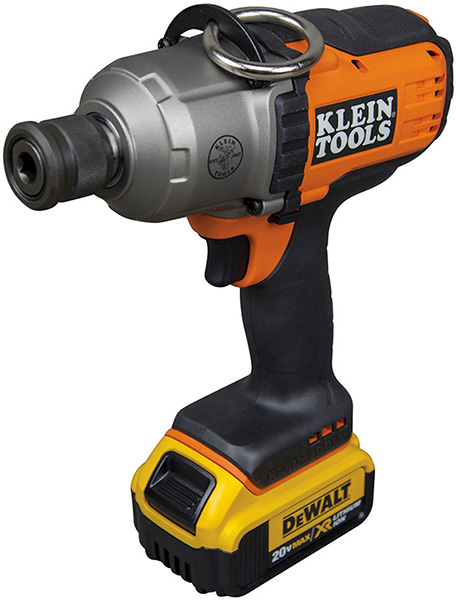Klein 20V Impact Wrench Powered by Dewalt Battery