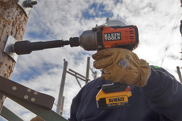 Klein 20V Impact Wrench in Action