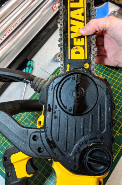 Dewalt 20V Max Chainsaw Chain Tensioning