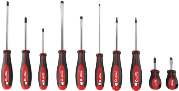 Milwaukee Tri-lobed Screwdriver Lineup