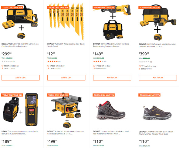 Dewalt Tool Deals of the Day at Home Depot 3-12-2018 Part 2