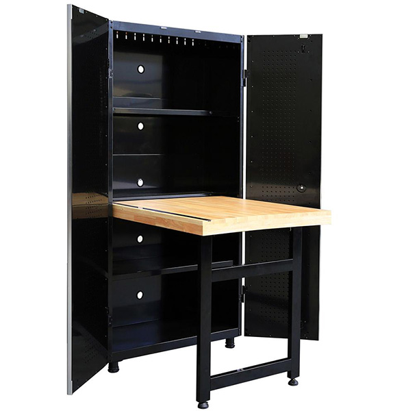 Husky Tool Cabinet with Fold Down Work Table