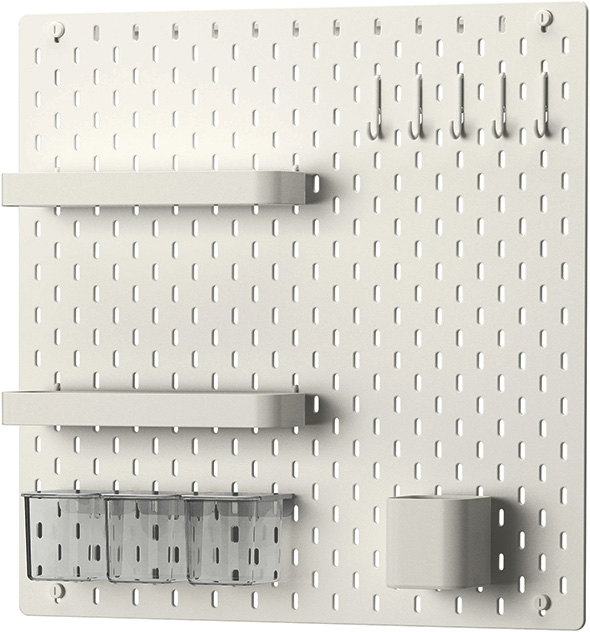 Ikea SKADIS Pegboard with Accessories and Hooksjpg
