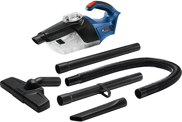 Bosch GAS18V-02N 18V Hand Vac and Accessories