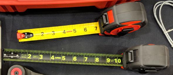 Lufkin Black Widow tape measure blade comparison