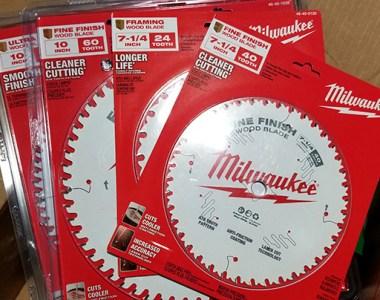 New Milwaukee Circular Saw and Miter Saw Blades