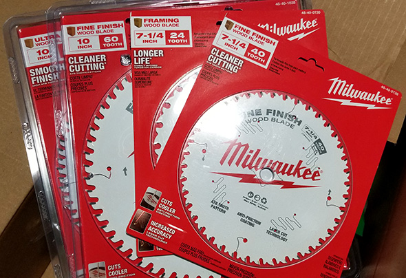 New Milwaukee Circular Saw and Miter Saw Blades