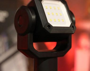 Milwaukee M12 Rocket Dual Power Tower Light closeup of LEDs