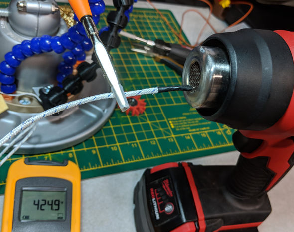 Testing Milwaukee Heat Gun Temperature and Warmup Time in the mesh