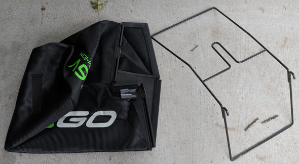 Ego mower bag assembly