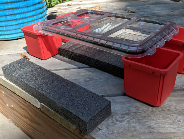 Kaizen foam control and foam under lid with no box