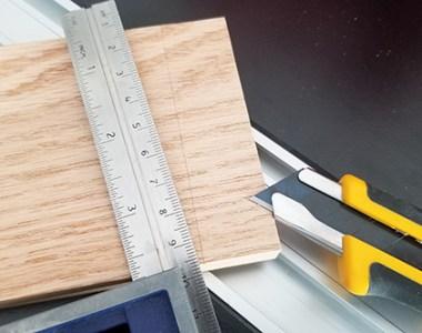 Olfa Utility Knife Used for Layout Work
