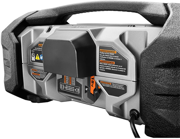 Ridgid 18V Charger Radio Battery Compartment