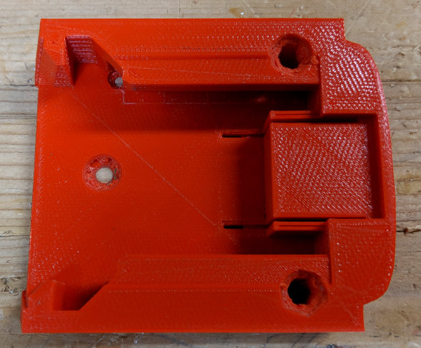 3D Printed Milwaukee M18 Battery Mounts modified