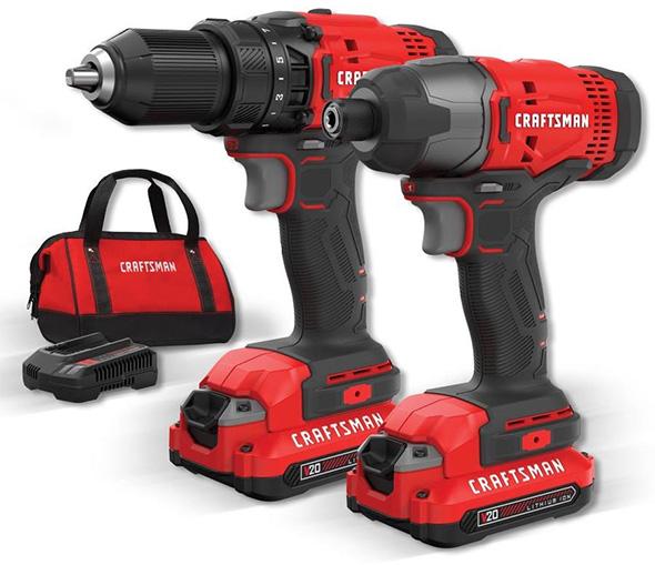 Craftsman 20V Cordless Drill and Impact Driver Combo Kit