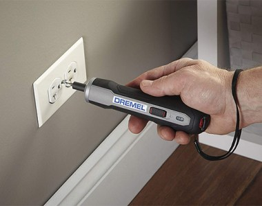 Dremel Go Cordless Screwdriver Securing Wall Plate