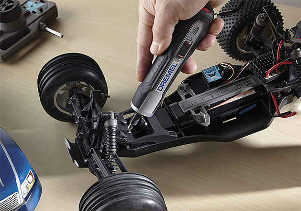 Dremel Go Cordless Screwdriver Working on RC Car